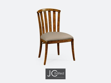 Jonathan Charles Country Walnut Style Curved Back Chair 491047-SC-CFW