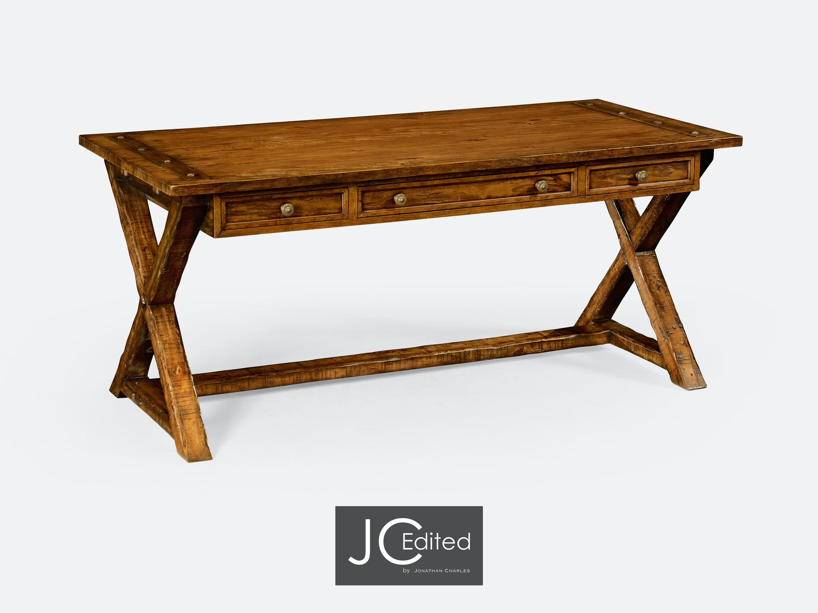 Jonathan Charles Country Walnut Style Walnut Desk 491058 CFW