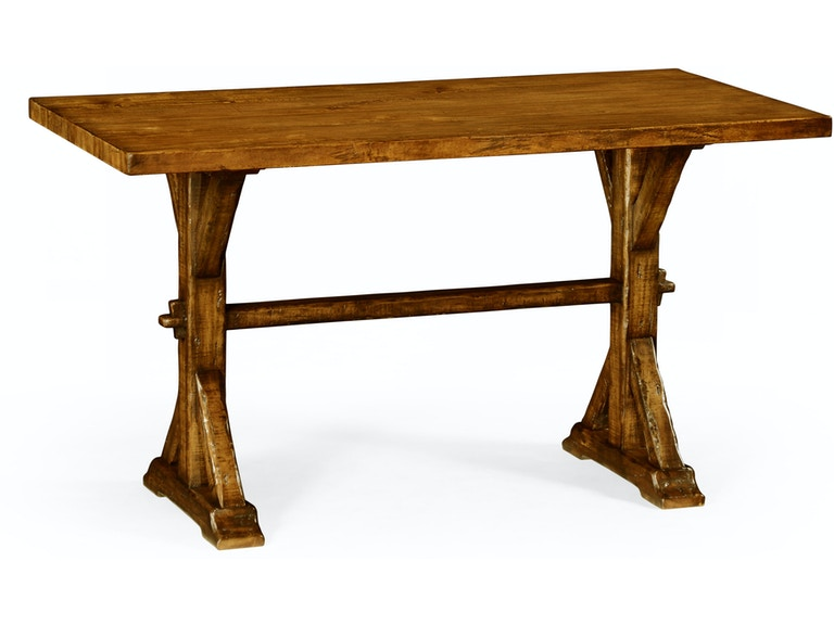 Jonathan Charles Small Solid Country Walnut Topped Dining Table Qj49106154lcfw