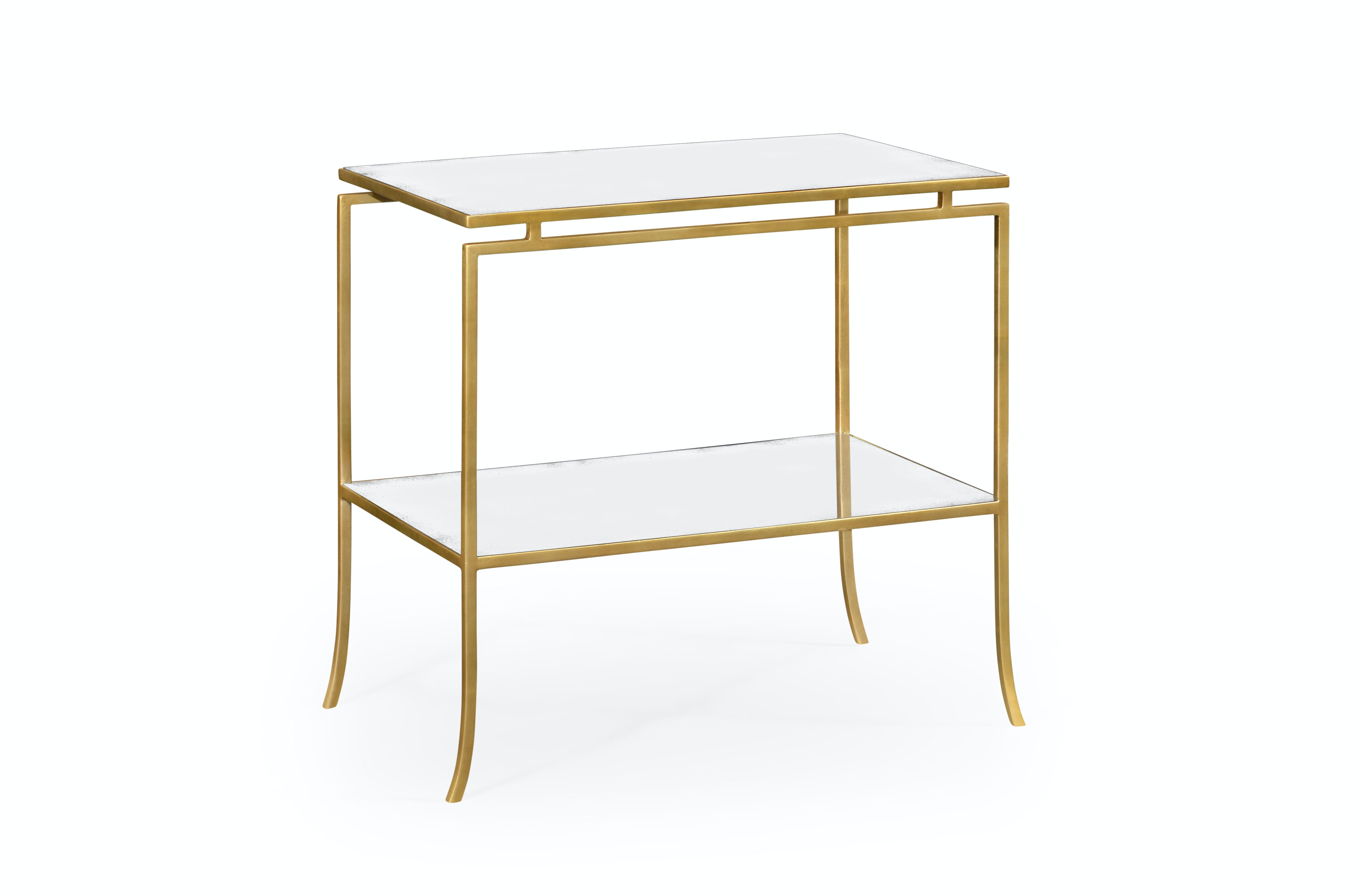 Beautiful Jonathan Charles Gilded Iron Rectangular Side Table 491106 G GAM From  Walter E.