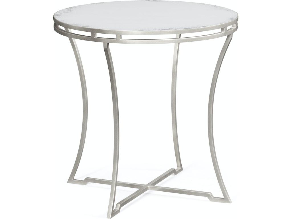 Jonathan Charles Living Room Silver Iron Round Side Table Qj491110sgam Walter E Smithe Furniture Design