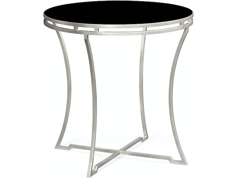 Jonathan Charles Silver Iron Round Side Table 491110 S Gbl From Walter E