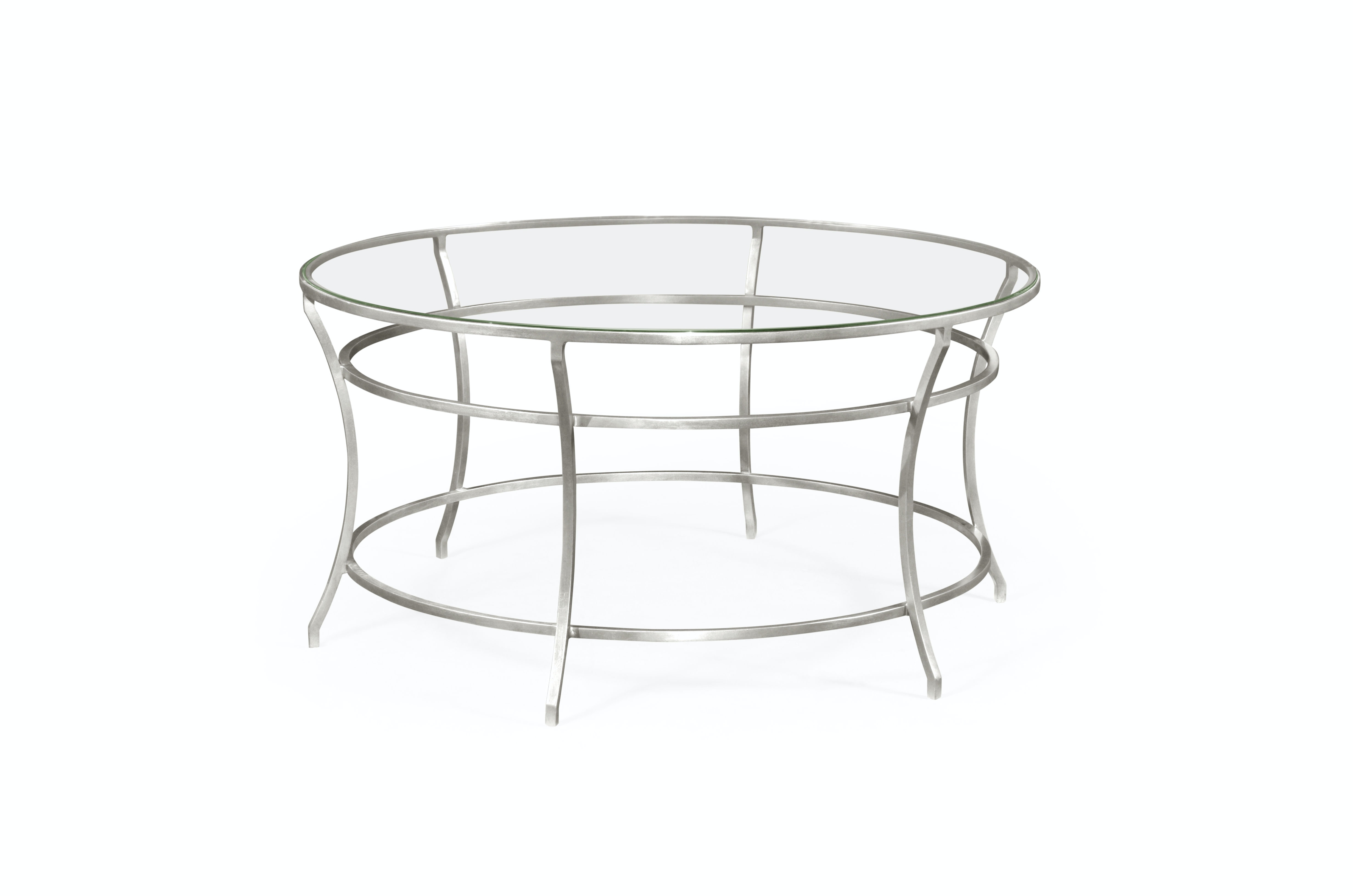 - Silver Round Iron Coffee Table QJ491111SGCL