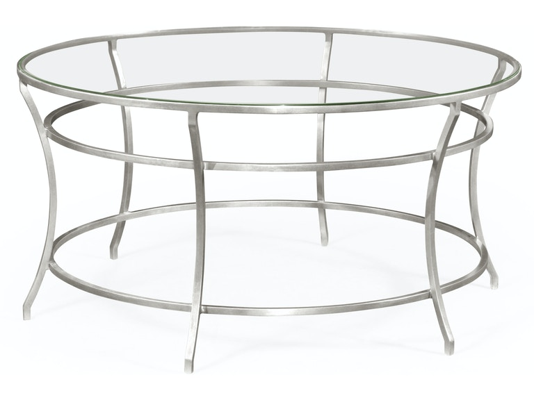 Jonathan Charles Silver Round Iron Coffee Table 491111 S Gcl From Walter E