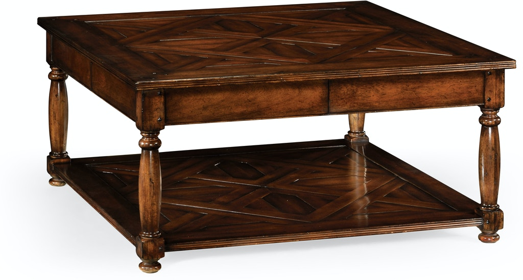 Jonathan Charles Living Room Square Parquet Topped Coffee