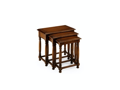 Jonathan Charles Nest Of Three Walnut Tables With Plank Tops 492026