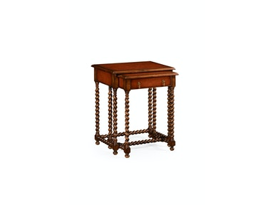 Jonathan Charles Pair Of Nesting Walnut Tables 492027
