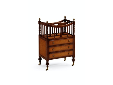 Jonathan Charles Walnut & Leather Canterbury With Two Drawers 492028