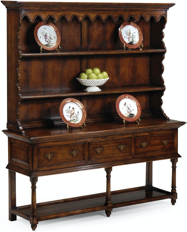 Jonathan Charles Dining Room Walnut Country Open Dresser