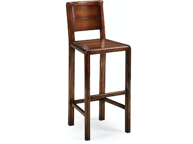 Jonathan Charles Planked Walnut Barstool (Side) 492244