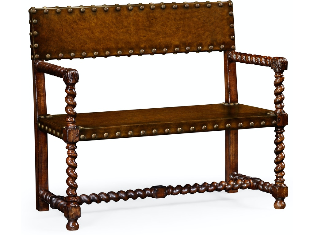 Super Jonathan Charles Living Room Tudor Style Leather Bench Walnut Qj492245Wal Walter E Smithe Furniture Design Ncnpc Chair Design For Home Ncnpcorg