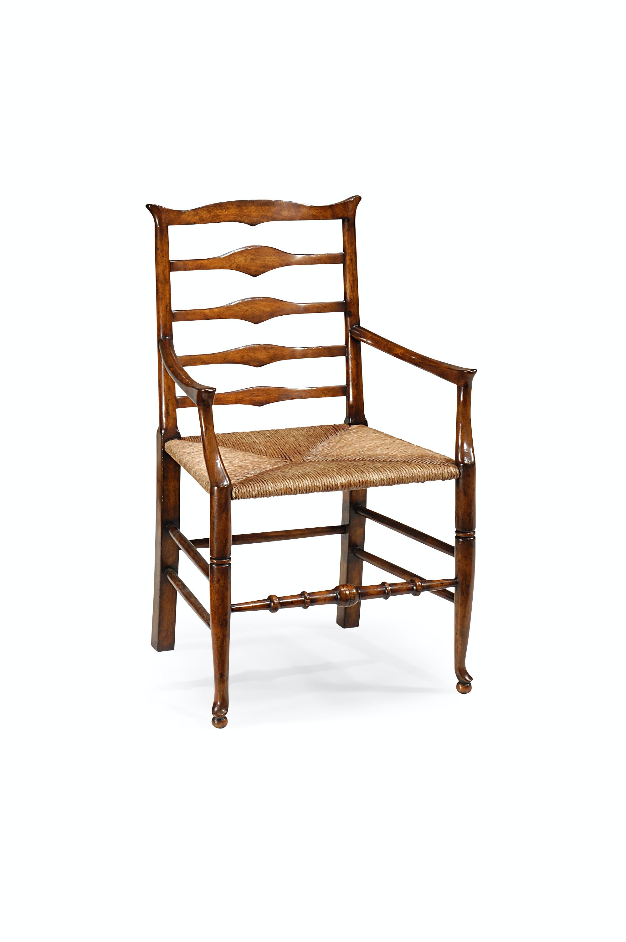 Jonathan Charles Triangular Detail Ladder Back Chair With Rush Seat (Arm)  492300 AC