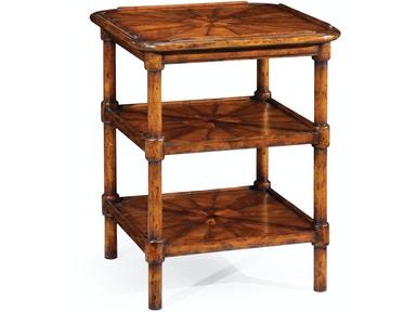 Jonathan Charles Rustic Walnut Three-Tier Table 492598