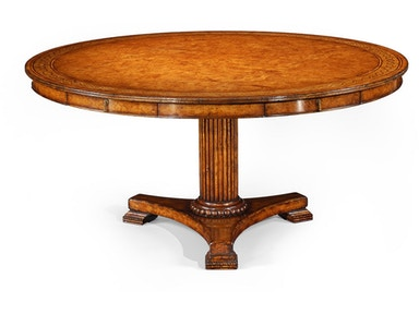 "Jonathan Charles 62"" Rope Twist Round Dining Table 492609-62D"