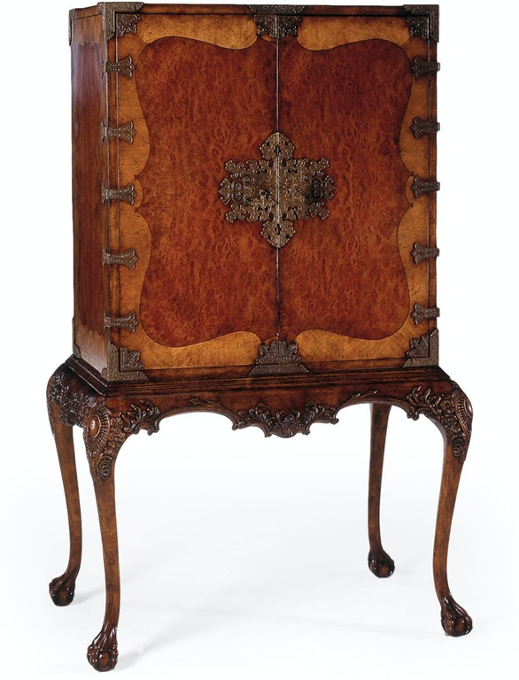 Jonathan Charles Bar and Game Room Queen Anne Drinks Cabinet