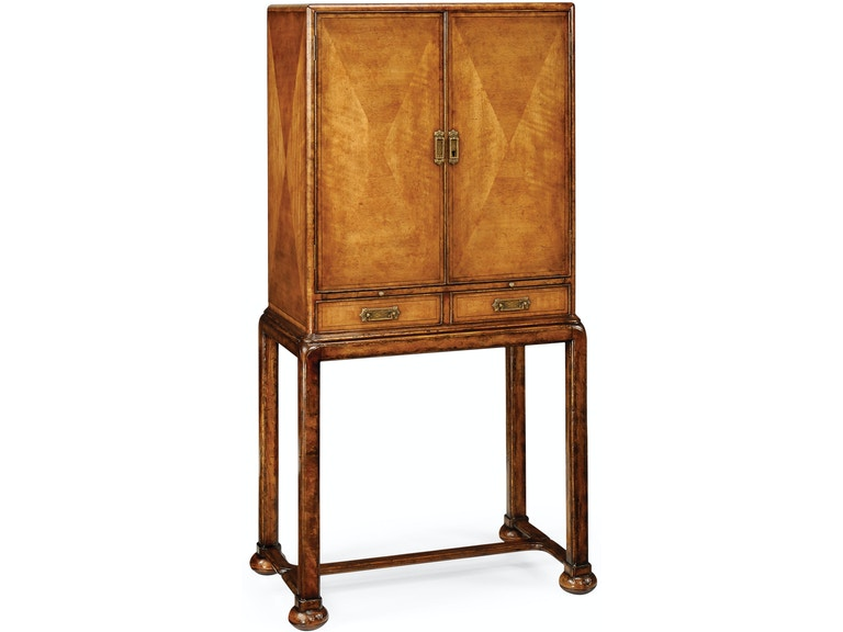 Jonathan Charles Bar And Game Room Satinwood Drinks Cabinet 492669
