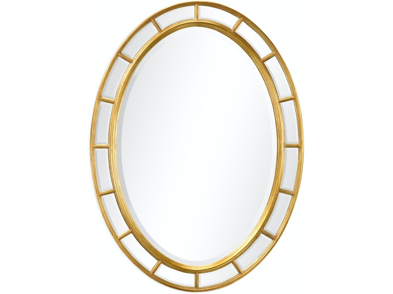 Jonathan Charles Accessories Oval Panelled Gilded Mirror