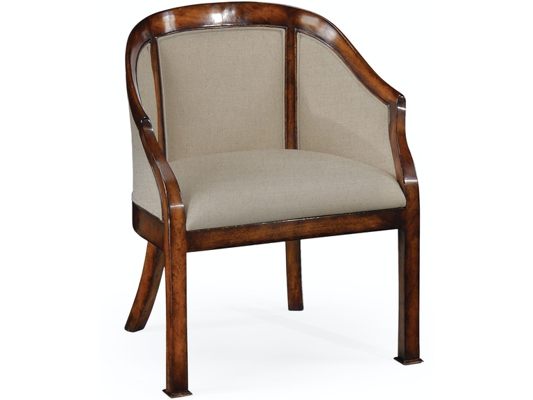 Jonathan Charles Dining Room Plain Upholstery Walnut Salon Tub Chair 492717 Marty Raes Of Lexington And Columbia Sc
