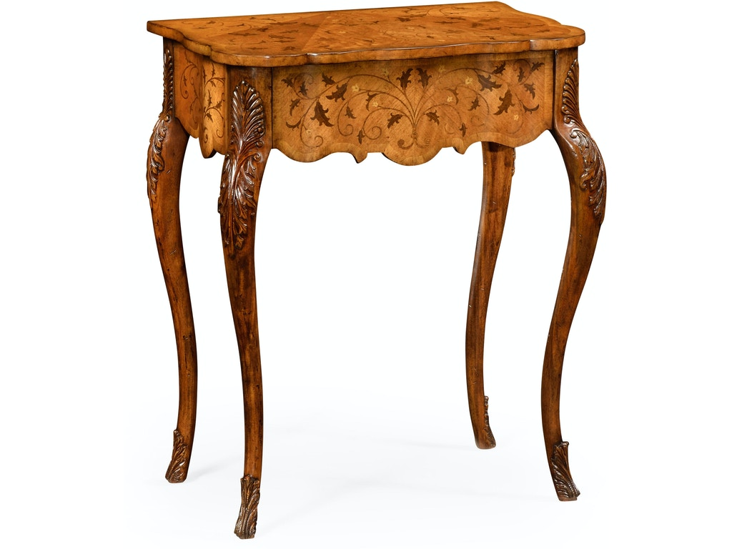 Jonathan Charles Living Room Small Marquetry Side Table Qj492776sam Walter E Smithe Furniture Design
