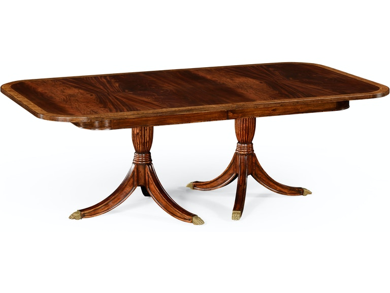 Jonathan Charles Regency Two Leaf Mahogany Extending Dining Table Qj49286588lmah