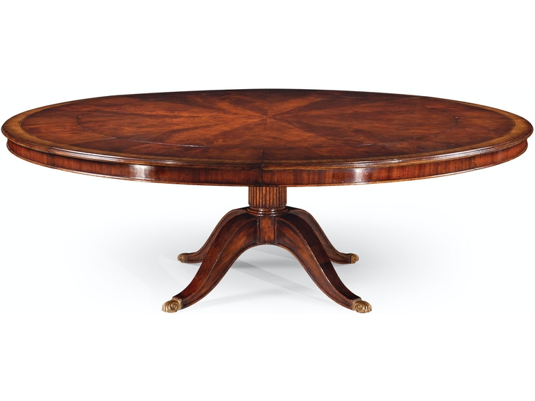 Jonathan Charles Mahogany Extending Circular Dining Table With Storage Cabinet For Leaves Qj49307066dmah From Walter E