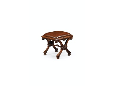 Jonathan Charles Heavily Carved X-Frame Footstool 493080