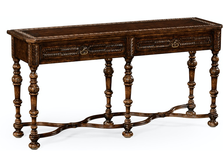Jonathan Charles Living Room Chip Carved Dark Oak Console