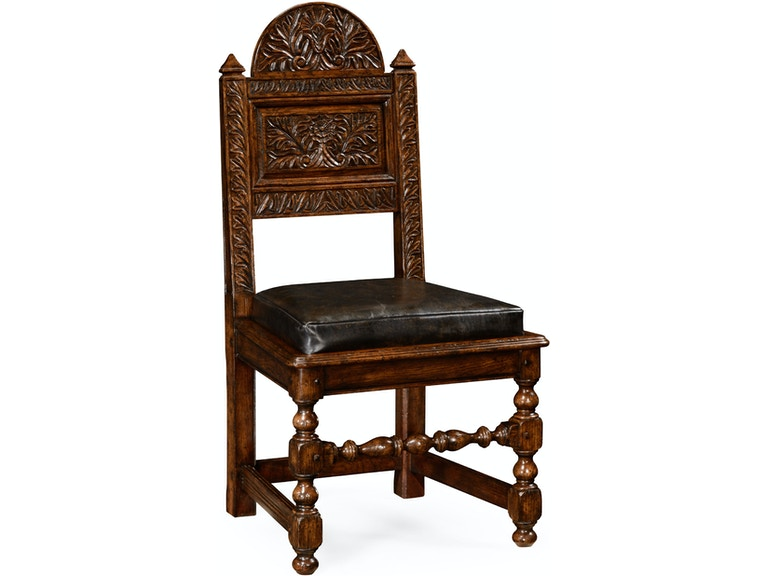 Jonathan Charles Dining Room Yorkshire Dark Oak Chair Side 493171 At Louis Shanks