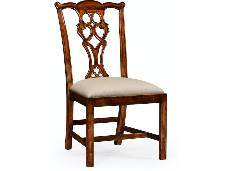Chippendale Style Classic Walnut Chair Side Qj493330scwalf001