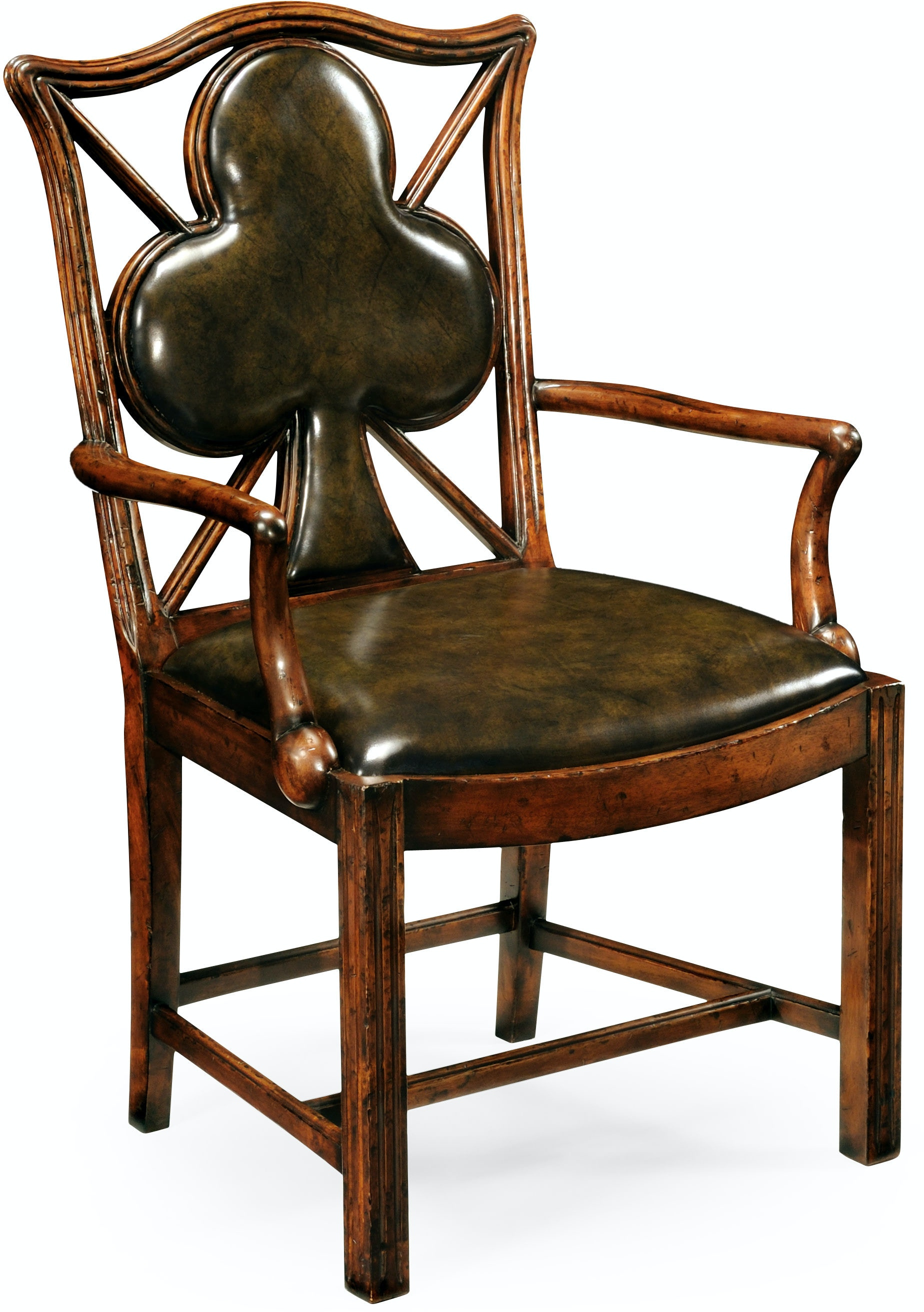 Bar And Game Room Playing Card Quot Club Quot Armchair With Medium
