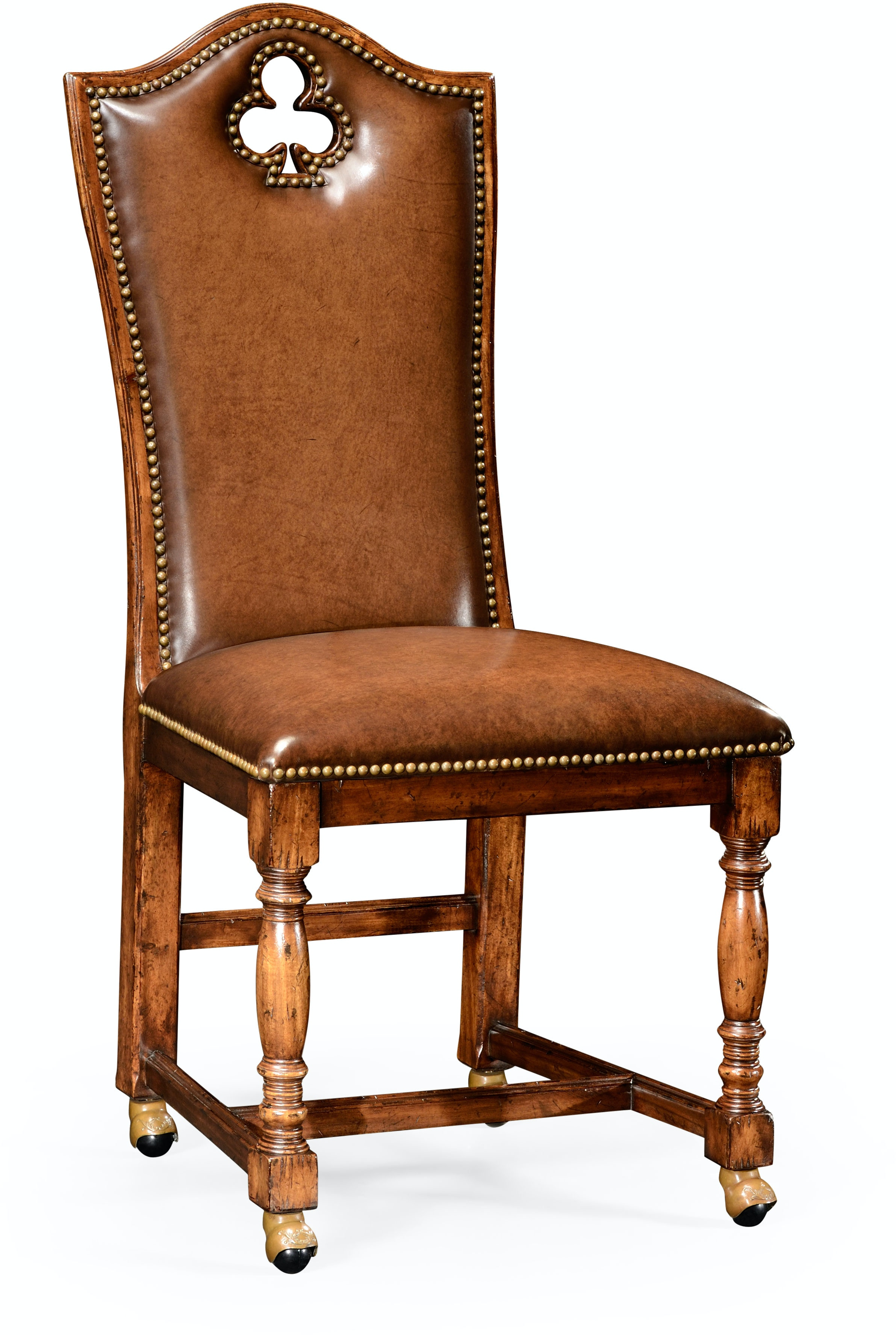 Bar And Game Room High Back Playing Card Quot Club Quot Side Chair