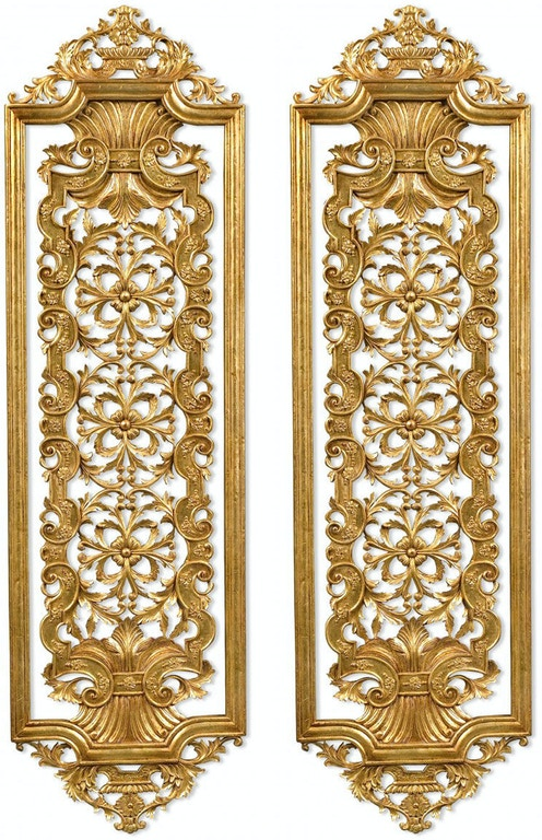 Jonathan Charles Accessories Pair Gilded Renaissance Style