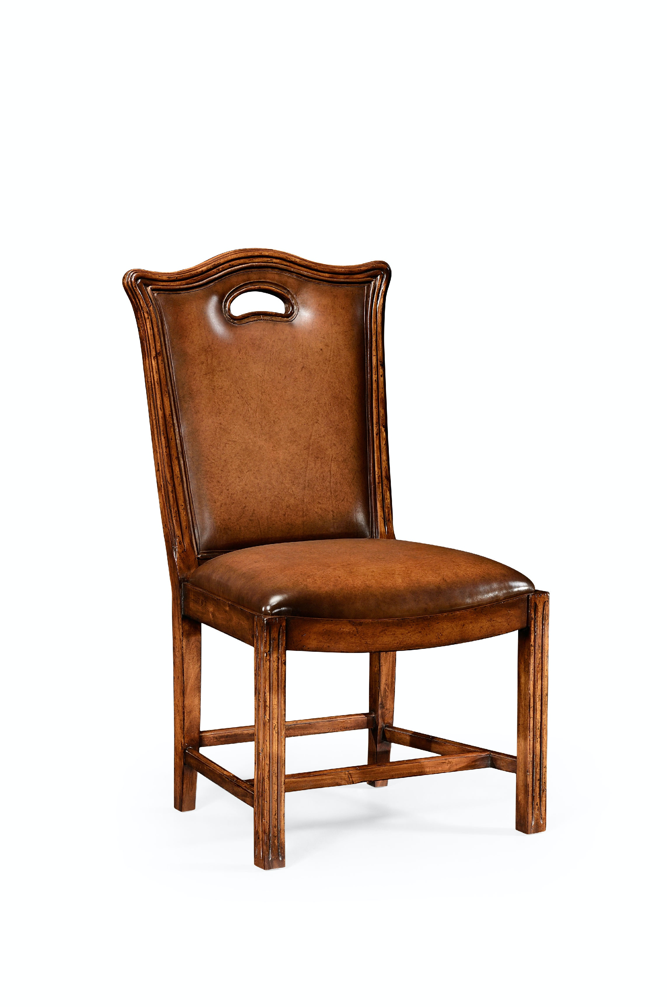 Jonathan Charles Dining Room Chippendale Country Chair Leather