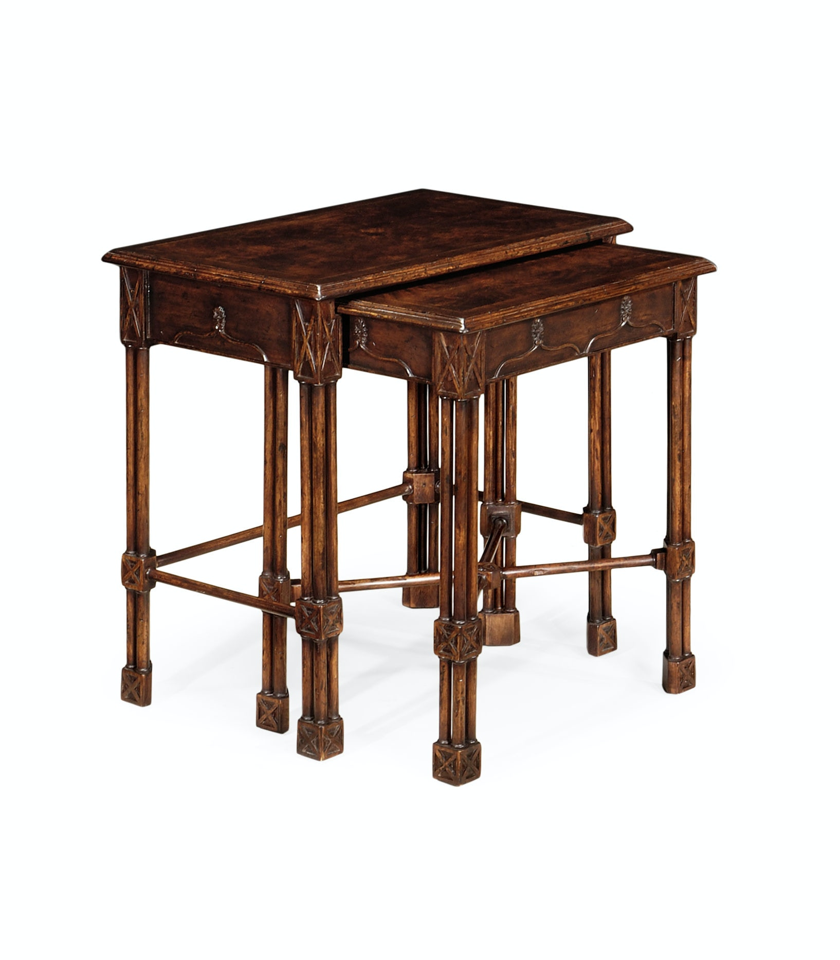 Jonathan Charles Living Room Chippendale Gothic Style Nesting Tables  493484 DCW At Louisiana Furniture Gallery