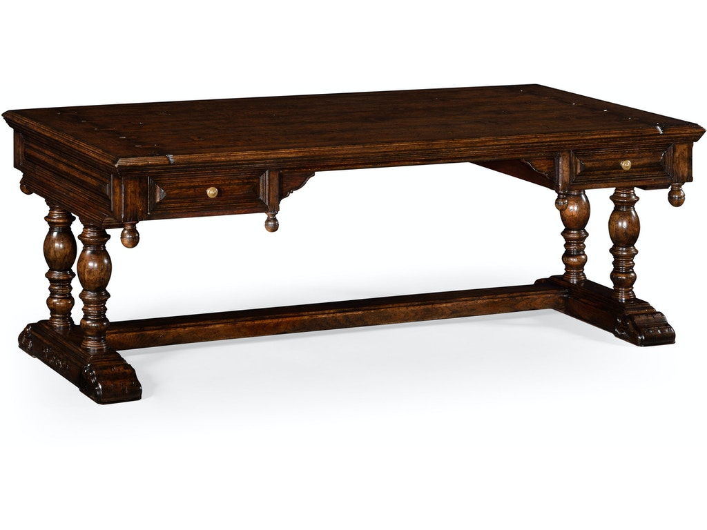 Jonathan Charles Home Office Elizabethan Dark Oak Desk