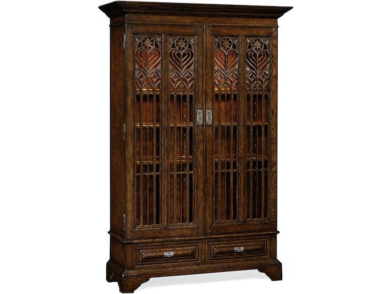 Dark Oak Gothic Display Cabinet Qj493739tdo
