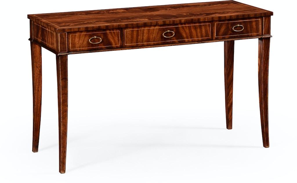 Jonathan charles living room mahogany narrow desk or side - Narrow side tables for living room ...