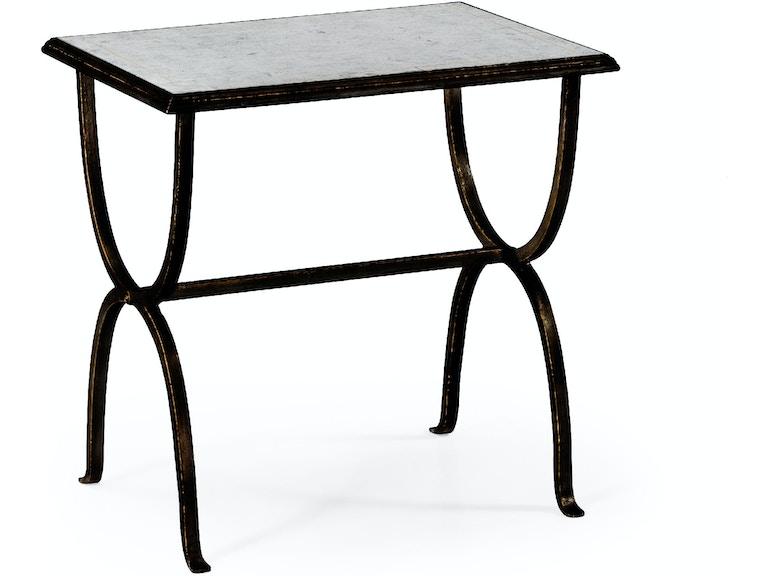 Jonathan Charles Eglomise Bronze Iron Rectangular Side Table 494036 B