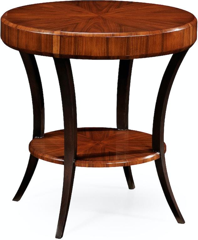 Onwijs Jonathan Charles #494083-SAS Art Deco Round Side Table (Satin IS-07