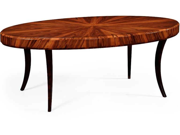 Jonathan Charles Opera Art Deco Oval Coffee Table Qj494139gsh From Walter E Smithe Furniture