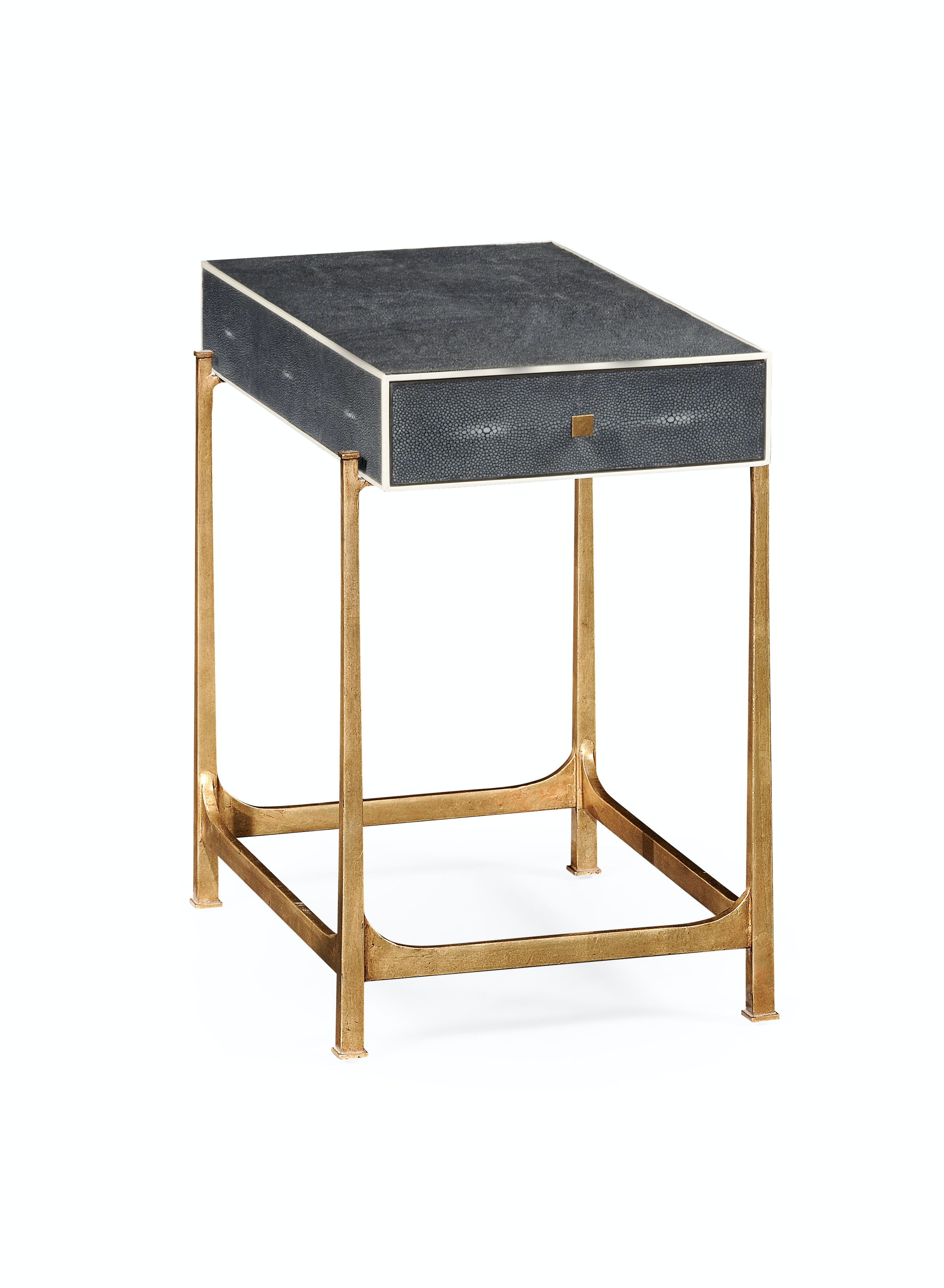 Charmant Jonathan Charles Anthracite Faux Shagreen U0026 Gilded Iron Side Table  QJ494256GSGA From Walter E. Smithe