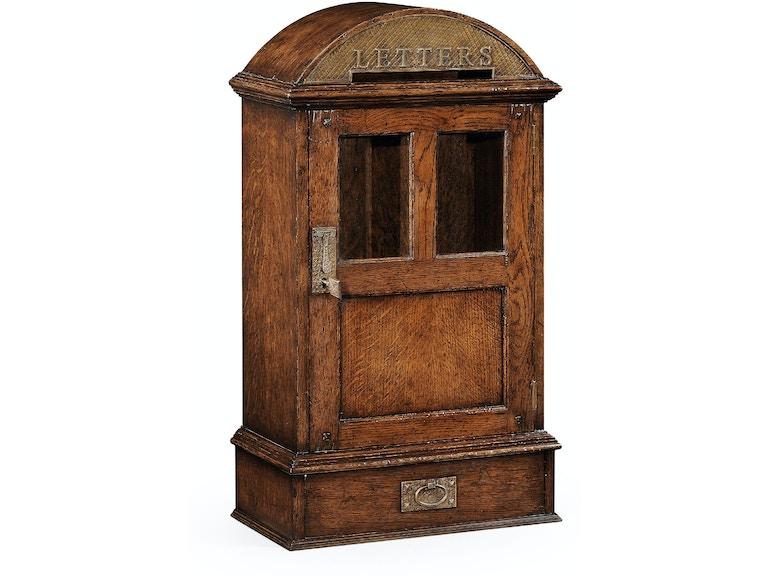 jonathan charles accessories dark oak letter box with lock 494290