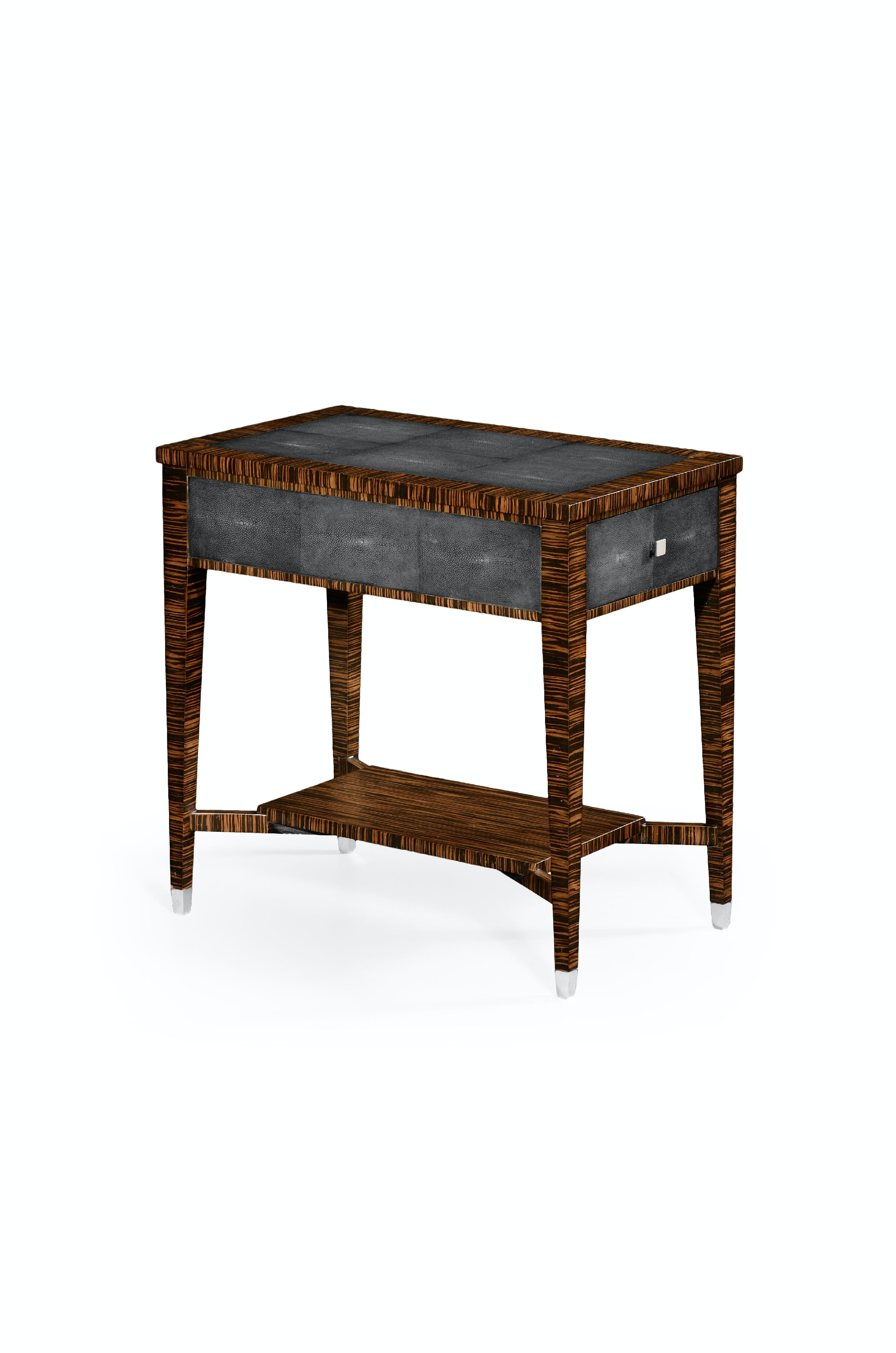Merveilleux Jonathan Charles Faux Macassar Ebony U0026 Anthracite Shagreen Side Table  QJ494355MAS From Walter E. Smithe