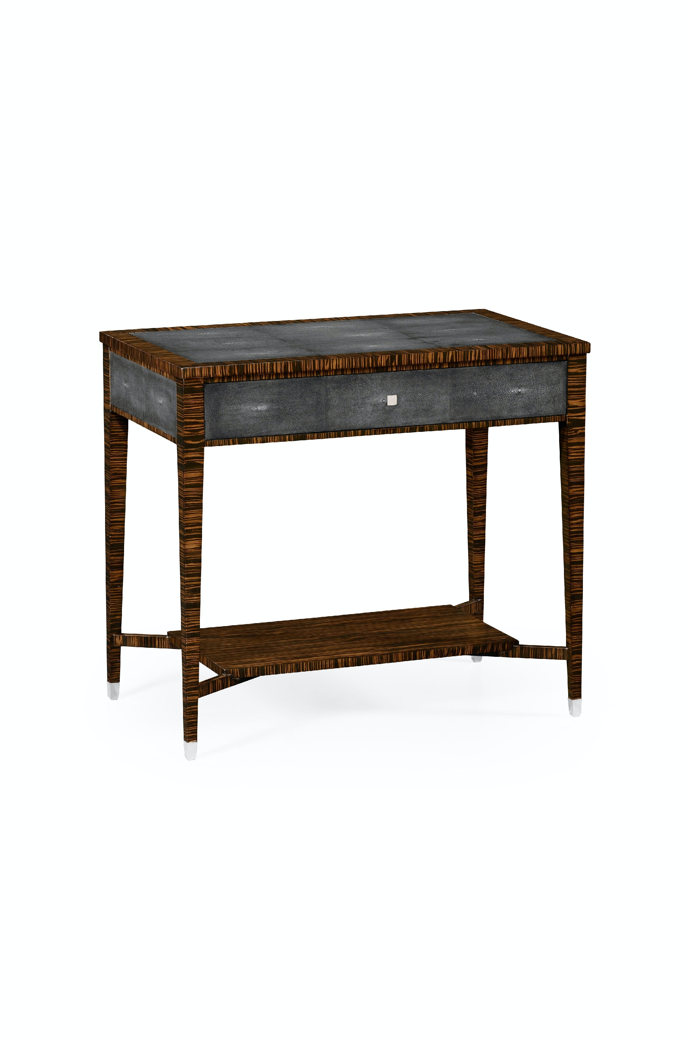 Jonathan Charles Faux Macassar Ebony U0026 Anthracite Shagreen Sofa Table  QJ494356MAS From Walter E. Smithe