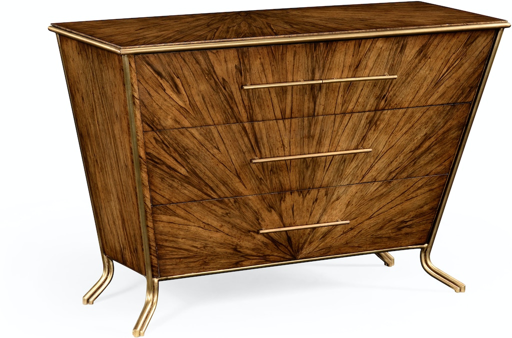 Jonathan Charles 494413 Law Argentinian Walnut Veneered Tapering Chest Of Drawers Interiors Home