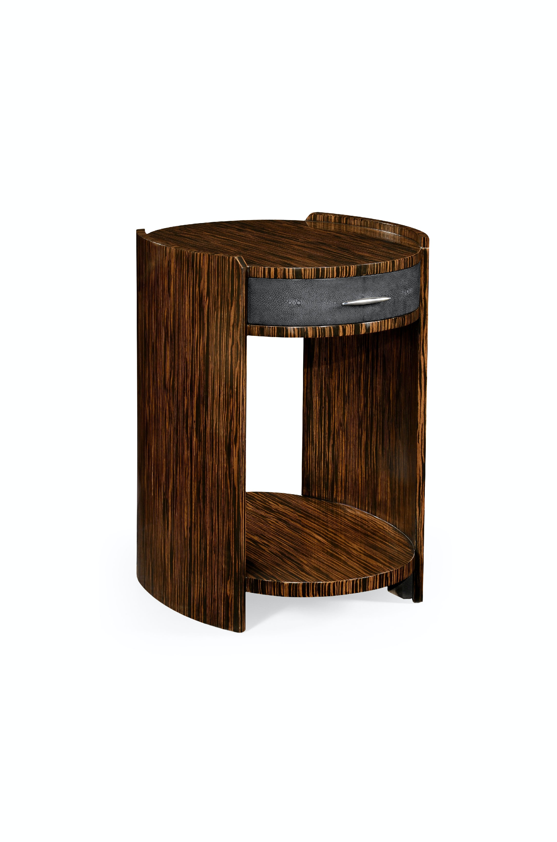 Etonnant Jonathan Charles Anthracite Faux Shagreen And Macassar Ebony Oval Side  Table QJ494517MAS From Walter E.