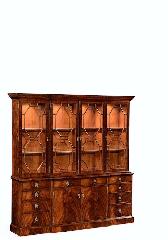 Jonathan Charles Home Office Mahogany Triple Bookcase With