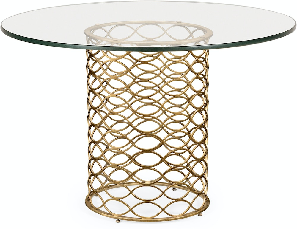 Jonathan Charles Dining Room 48 Quot Interlaced Gilded Amp Glass