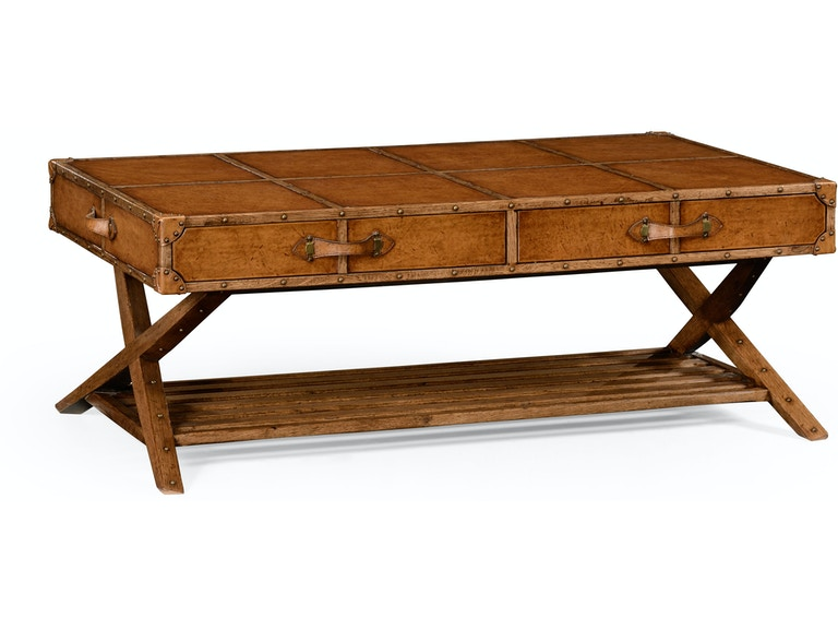 Jonathan Charles 494634 L002 Travel Trunk Style Coffee Table Interiors Home Camp Hill