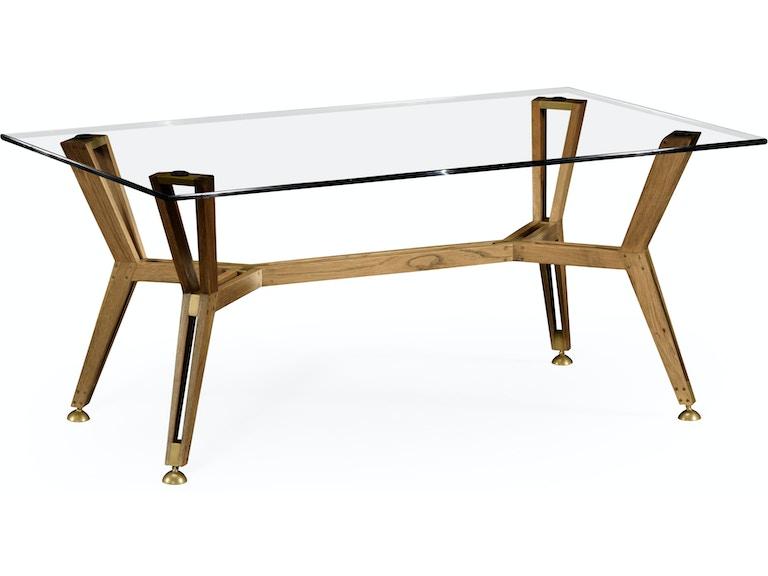 Jonathan Charles Living Room Midcentury Style Rectangular Oak Coffee - Mid century oak coffee table